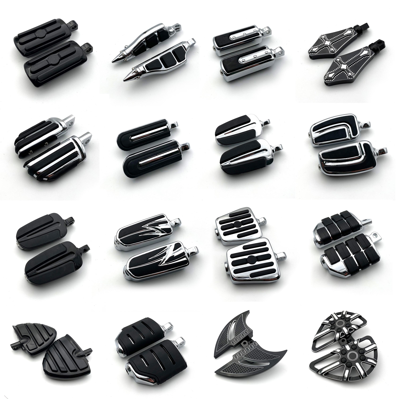 Realsion-مسند قدم للدراجات النارية للرجال ، جزء دراجة نارية ، مخصص لـ Harley Davidson Sportster Iron Touring Dyna Softail