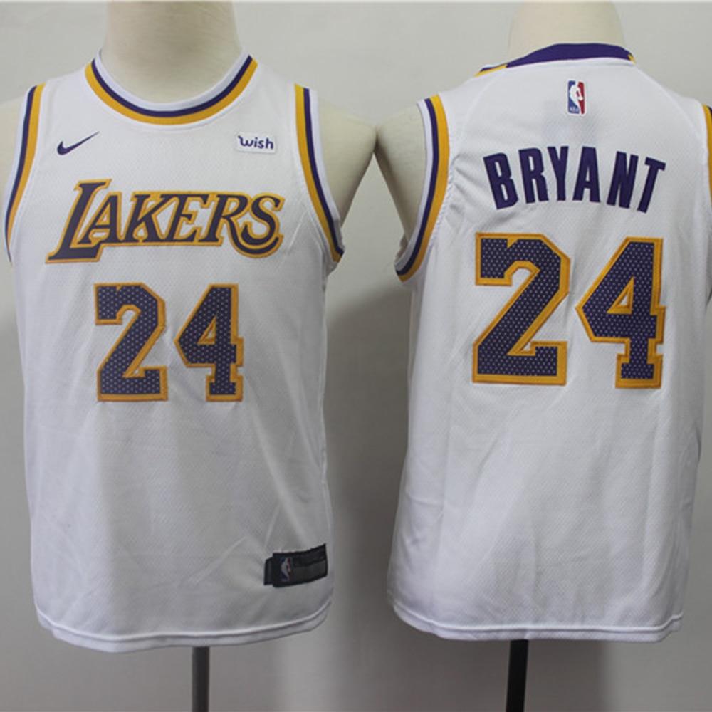 Баскетбольная майка NBA- Los Angeles Lakers для детей #24 Kobe Bryant City Edition Magic Johnson Youth Swingman, детская одежда