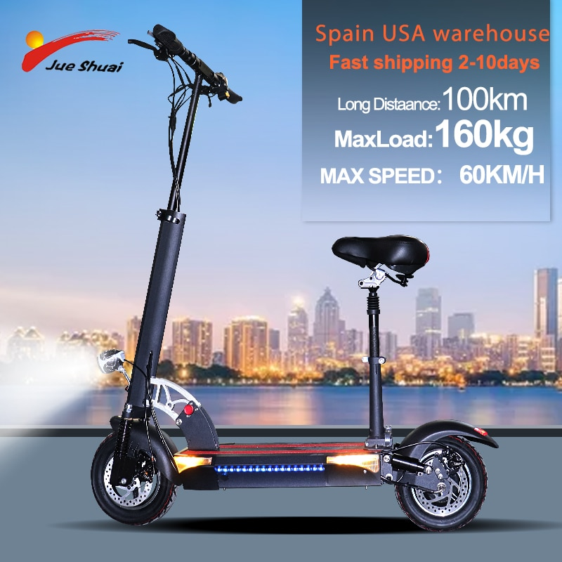 Patinete eléctrico plegable para Adulto, Scooter con Motor de 8 pulgadas, batería...