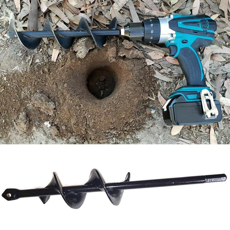 new home yard garden earth land digging holes tool drill bit farm planting auger digging spiral bit for electric cordless drill Drill Bit Heads For Digging Holes Garden Auger Bit Hand Drill Electric Drill Ground Bit Irrigating Planting Tool