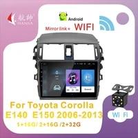 hansa 2 din android 10 car multimedia radio for toyota corolla e140 e150 2006 2013 9 gps navigation wifi bluetooth car stereo