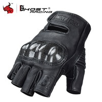 GHOST RACING Motorcycle Gloves Men Summer Half Finger Motorcross Gloves Carbon Fiber Guantes Breathable Motocicleta Moto Gloves