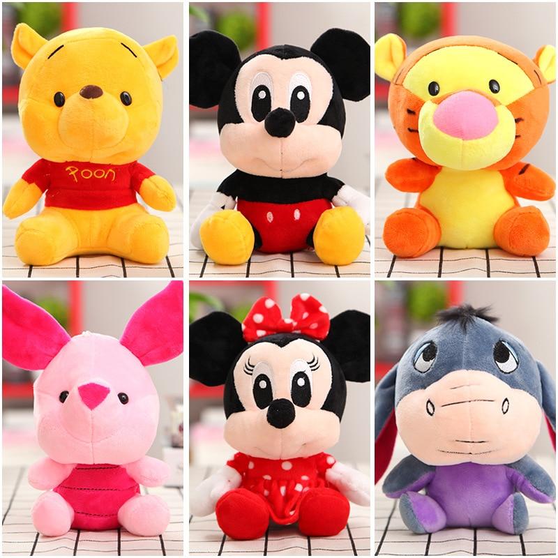 AliExpress - Disney Cartoon Stuffed Animals Plush Toys Winnie the Pooh Mickey Mouse Minnie Dolls Lilo Stitch Piglet Christmas Gifts For Kids