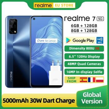 Global Version Realme 7 5G Smartphone 6GB 128GB Dimensity 800U 6.5 Inch 120Hz Display 48MP Quad Cameras 5000mAh 30W Dart Charge