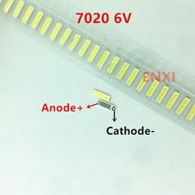 200 pièces dorigine pour LG Innotek 7020 6V SMD LED pour LCD rétro-éclairage perles de lampe à Led blanc froid
