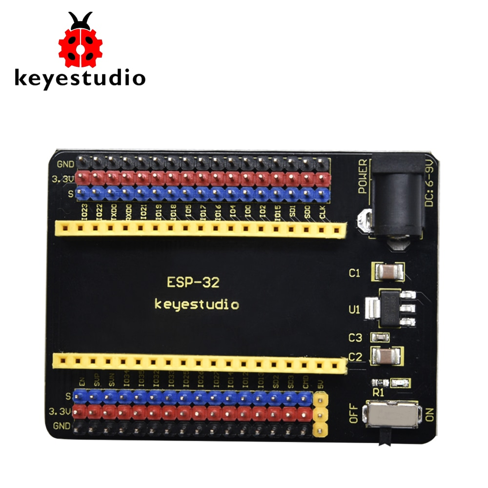 Keyestudio ESP32-IO Shield for Arduino ESP32 Wroom Core Board( (Pls Check the Spacing of the Pin Header Carefully Before Buying)