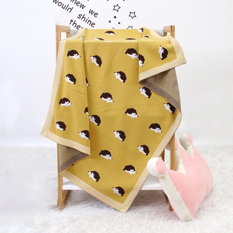 100x80cm Baby Stroller Crib Knitted Blanket Newborn Swaddle Wrap Bedding Quilts 40JC