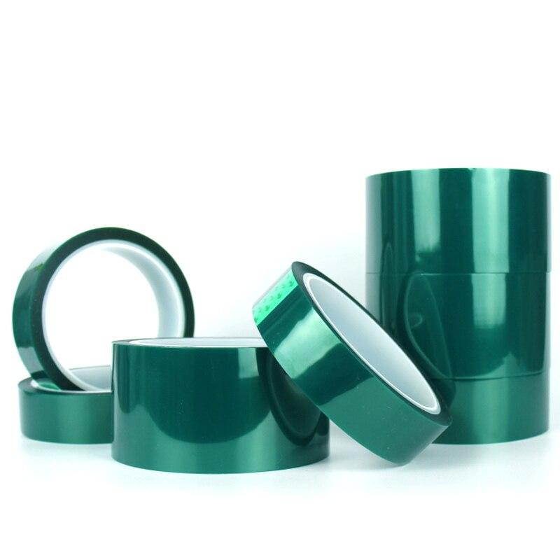 Cinta Termocontraíble aislante verde para mascotas, cinta de alta temperatura para protección de placas de soldadura PCB, cinta de enmascarar para pintura en aerosol para coche
