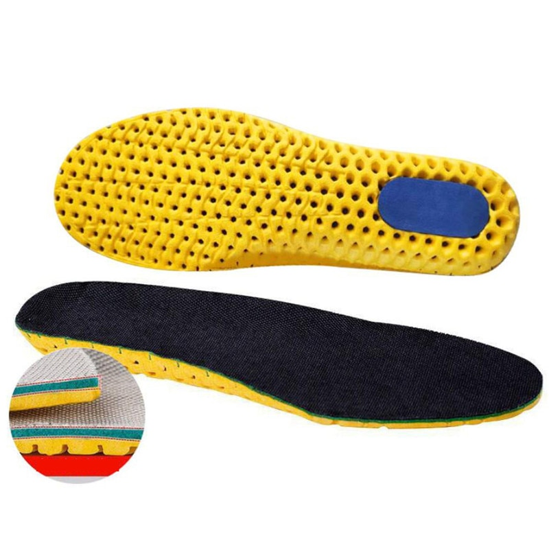 Elastic Shock Absorbing Shoe Insoles Breathable Honeycomb Sneaker Inserts Sports Memory Foam Shoe In