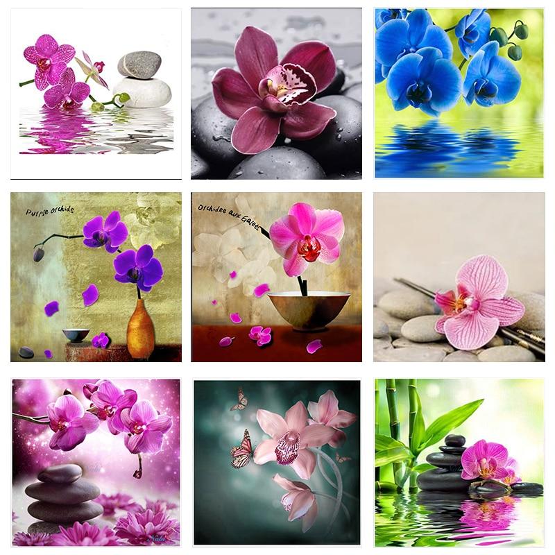 Zooya Stitch Diamond Painting Orchid Embroidery 5D Cross Mosaic Gift Handmake Jq615
