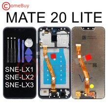 Huawei Mate 20 Lite LCD ekran için çerçeve ile dokunmatik ekran Digitizer Huawei Mate 20 Lite LCD ekran SNE-LX1 SNE-LX3