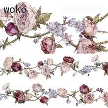 35 Mm Vintage Mooie Bloem Plakband Een Gedicht Van Rose Decoratie Washi Tape Diy Planner Scrapbooking Stickers Afplakband