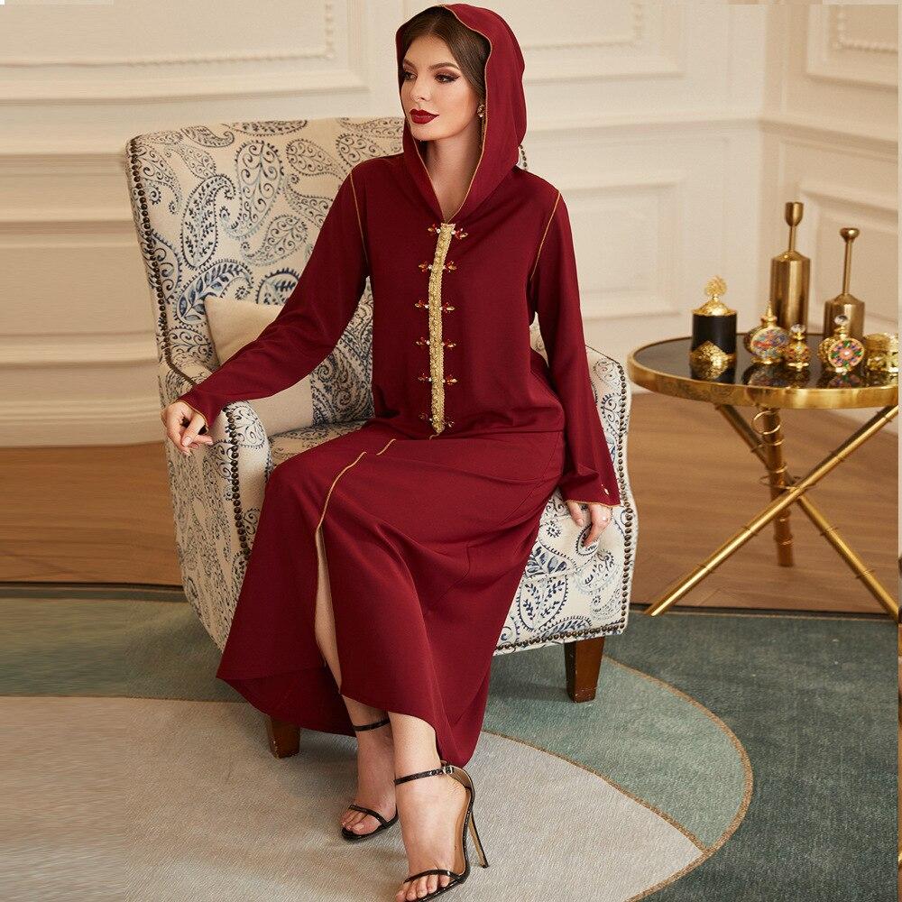 عباية دبي تركيا قفطان الحجاب فستان مسلم ملابس الإسلام فساتين ماكسي عبايات للنساء رداء Musulman De Mode djelaba فام