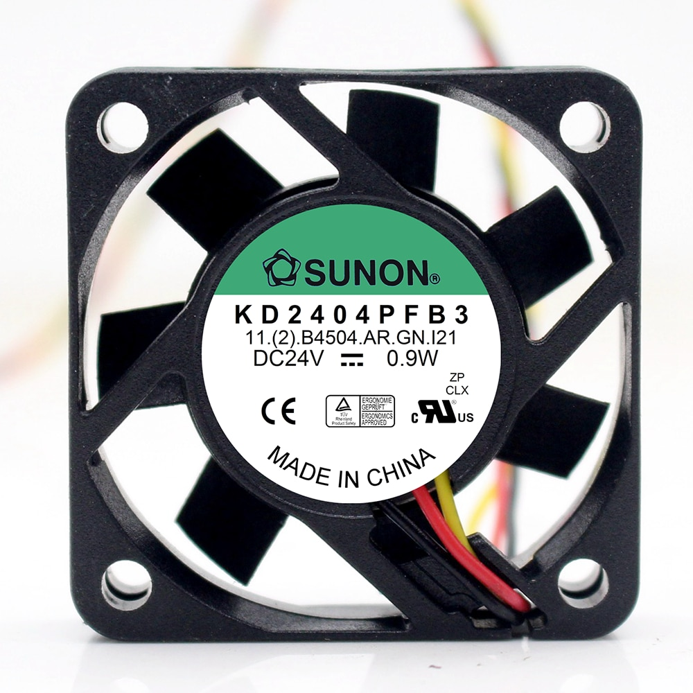 For Sunon KD2404PFB3 DC 24V 0.9W 3-wire 40x40x10mm Server Square fan