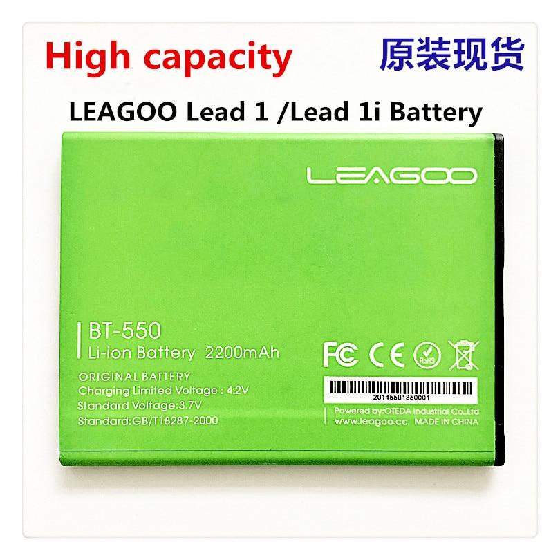 Mobile phone battery for LEAGOO BT-550 BT-550P battery Lead 1  Lead 1i  2200mAh  Original battery for LEAGOO Mobile Accessories недорого