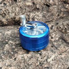 Hornet aluminium broyeur 63MM 3 pièces Whorl Style métal tabac broyeur à main manivelle Miller pollinisateur broyeurs