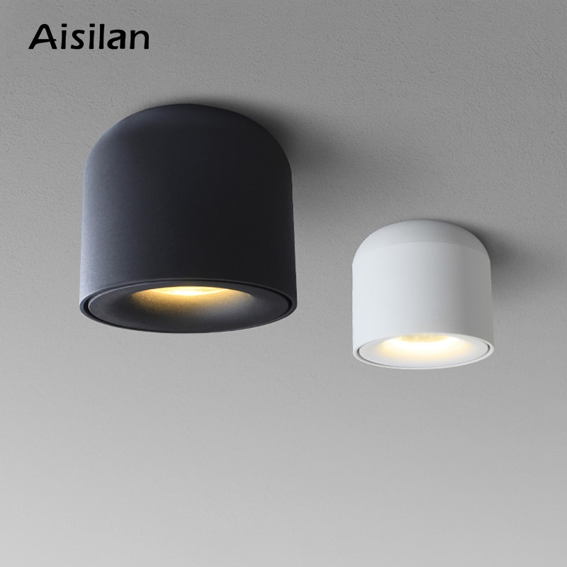aisilan square led surface mounted cube ceiling downlight for room corridor hallway ac85 260v cob design spot light Aisilan LED Downlight Ceiling Spotlights Living Lamp Nordic Lighting For Kitchen Aisle Spot light  Surface mounted AC90-260v
