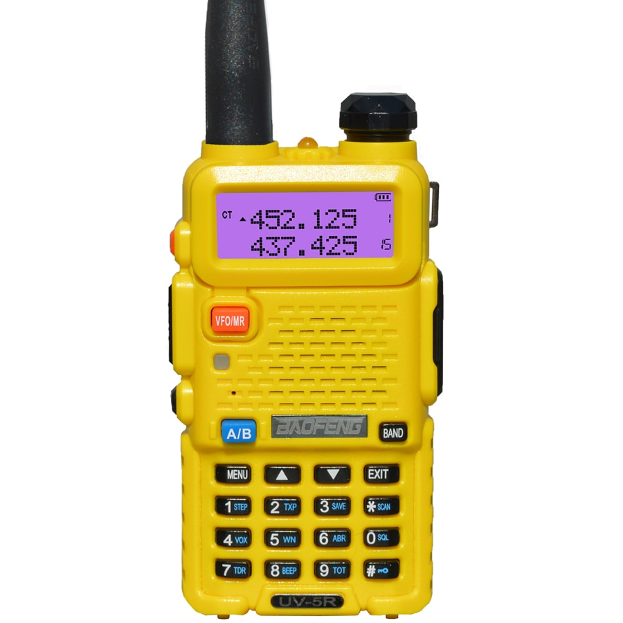 BaoFeng walkie talkie UV-5R two way cb radio upgrade version baofeng uv5r 128CH 5W VHF UHF 136-174Mhz & 400-520Mhz enlarge