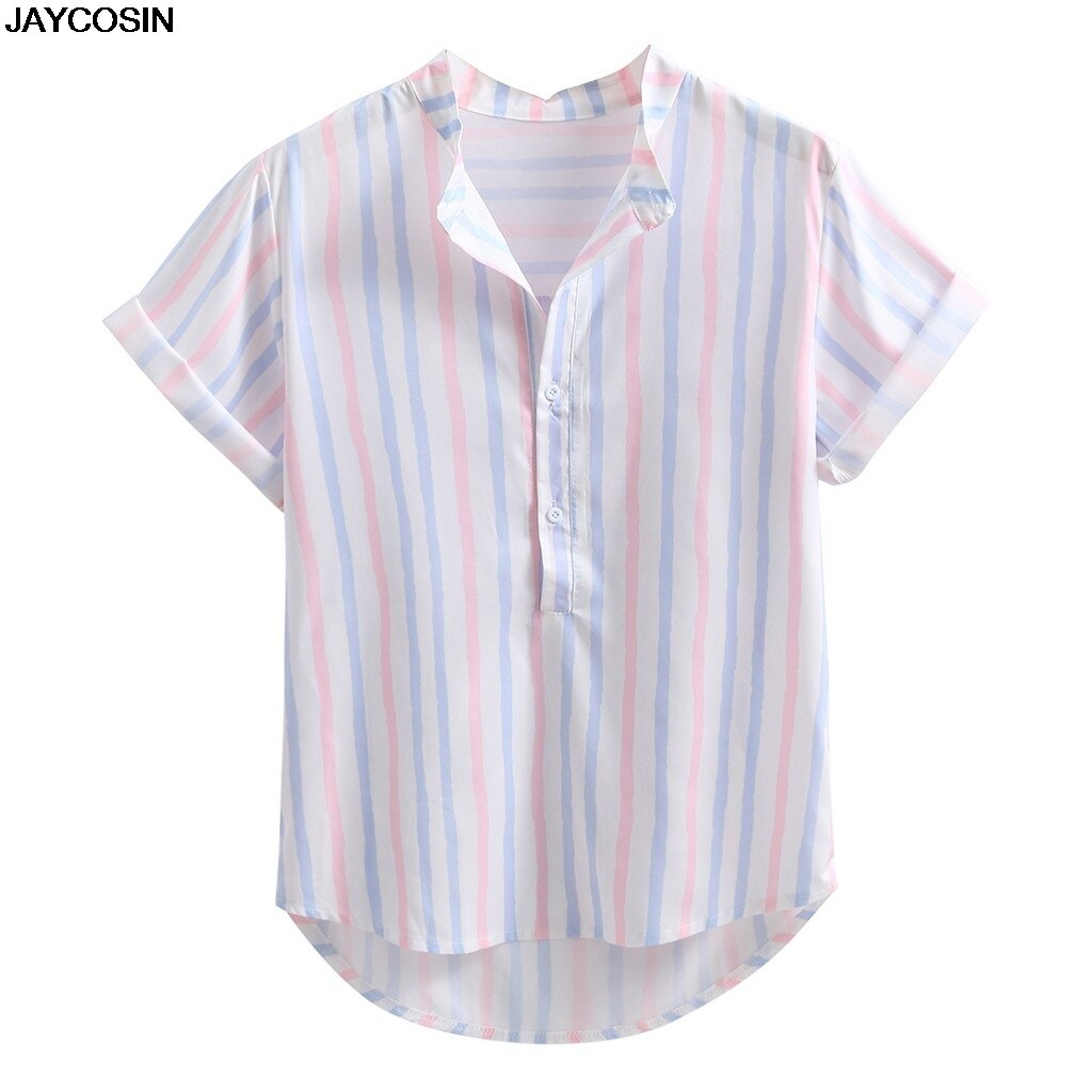 KLV Ethnic Style Print Men Casual Shirt Lapel Neck Streetwear Short Sleeve Tops 2019 Loose Tropical Hawaiian Shirt Men hot 9819