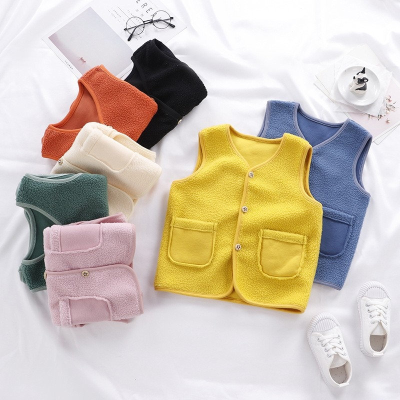 Children Autumn Winter Clothes Baby Boy Thick Warm Vest Toddler Girl Waistcoat Infant Child Outwear