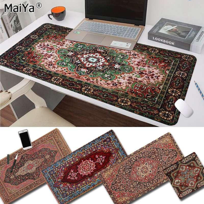 Maiya Slip PC Persian Mini Woven Rug Mat Gaming Player desk laptop Rubber Mouse Mat Free Shipping Large Mouse Pad Keyboards Mat