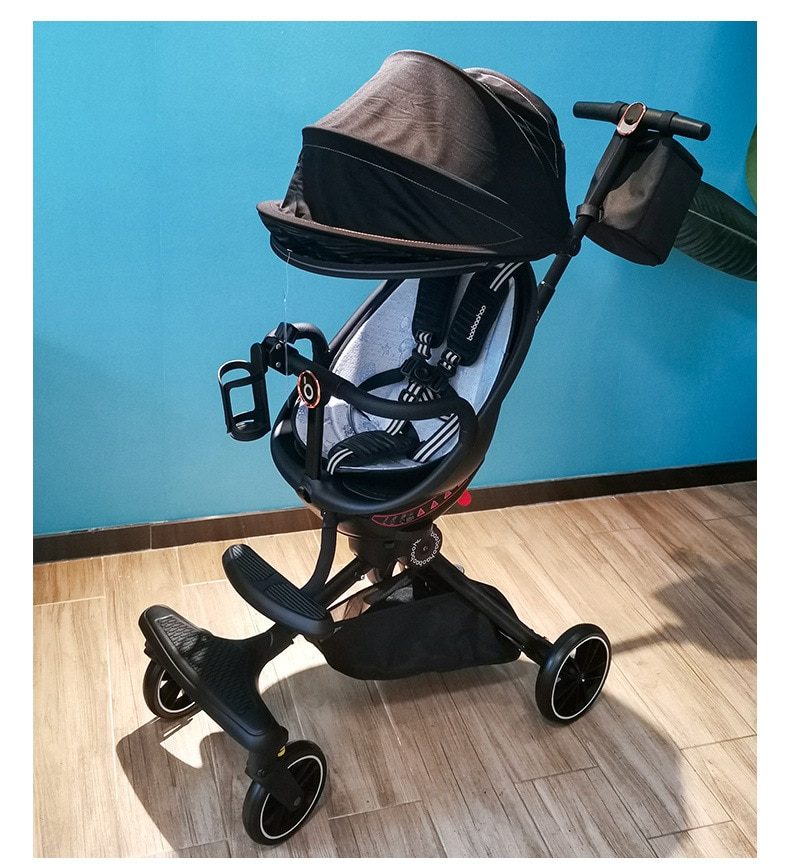 360 Degree Swivel Seat Folding Baby Stroller Sit Lie Baby Carriage Portable Two-way Baby Stroller High Landscape Baby Stroller enlarge