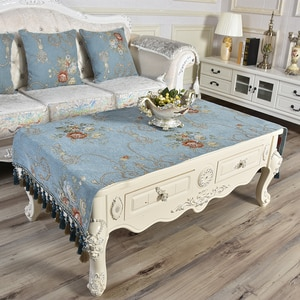 aparador Large Coffee Tablecloth Rectangular Living Room Tea Towel Table Middle Shoe Cabinet Marble Thickened Luxury Tassels