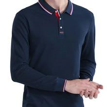 Polo de manga larga para hombre, camisetas ajustadas informales a la moda, de talla grande, alta calidad