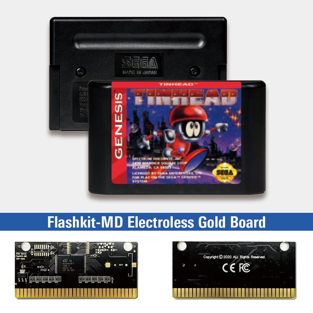 Tinhead - USA Label Flashkit MD, tarjeta PCB dorada sin electrodos para...