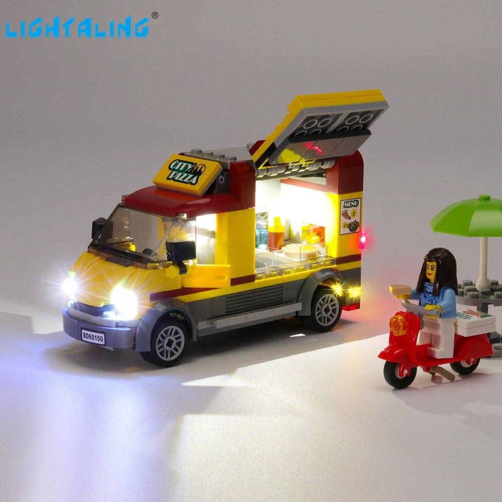 Lightaling Led Light Kit For City Series Pizza Van Building Blocks Compatible With 60150 10648 ( Lighting Set Only )