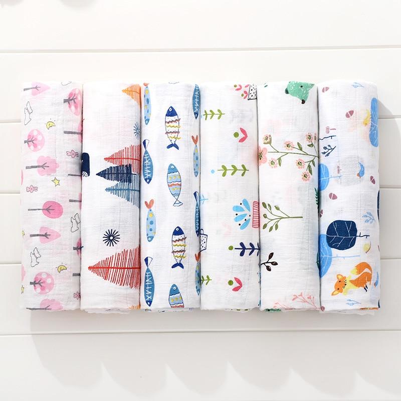 Swaddle Blanket Baby Cotton Gauze Blanket Newborn 2 Layer Muslin Blanket Bath Towel