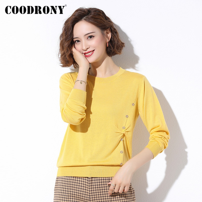 COODRONY Brand Autumn Winter Streetwear Fashion Pullover Slim Sweaters Female Knitted Casual Soft 2020 Women's Clothing W1063