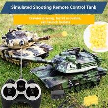 M1A2 무선 원격 제어 탱크는 총알을 발사 할 수 있습니다. 충전 된 오프로드 차량 소년과 어린이 장난감 Gif
