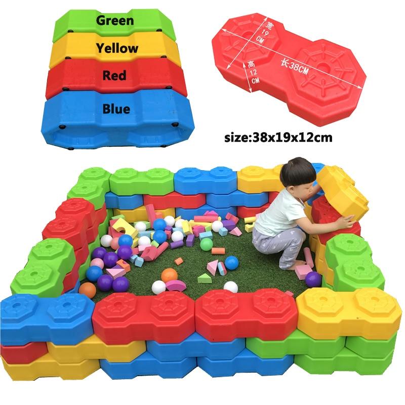 ylwcnn grande bloco de construcao plastico feliz octogonal enorme bloco brinquedos