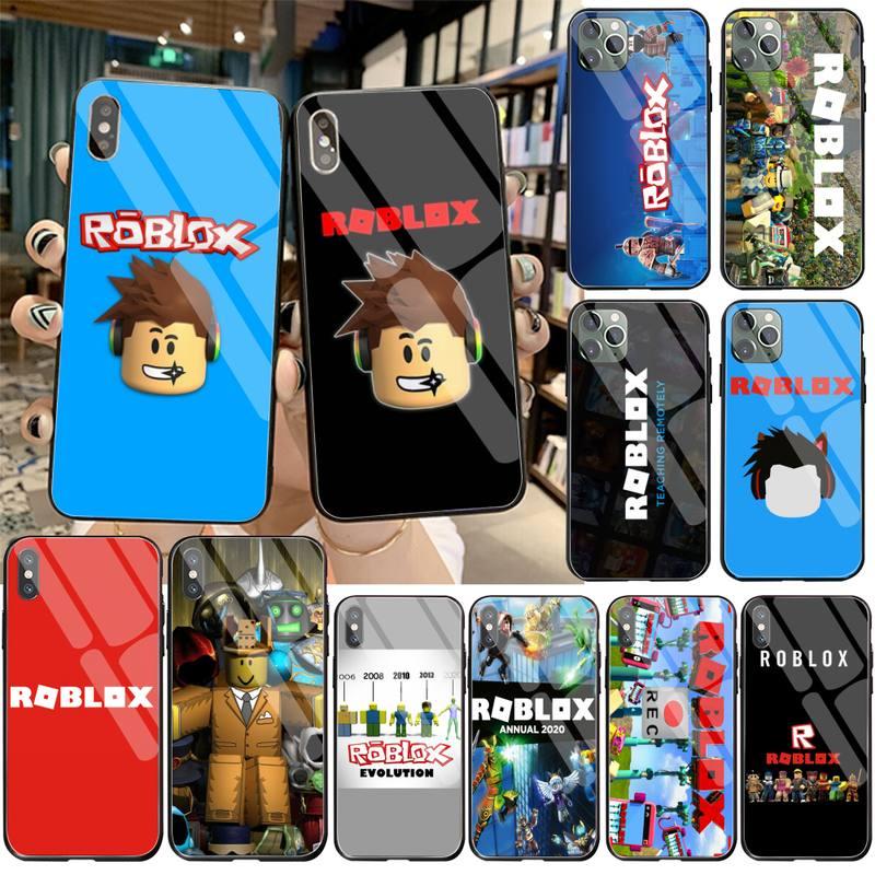 Jogos roblox capa de telefone vidro temperado para iphone 11 pro xr xs max 8x7 6s 6 plus se 2020 caso