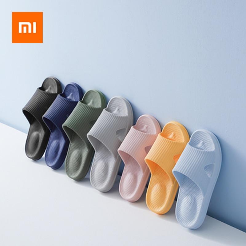 Xiaomi Men Women Couples Flat Slippers Summer Flip Flops Sandals Household Casual Bath Slip On Slides With Bulge Massage Dots