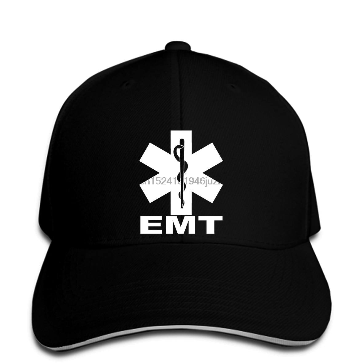 Gorras de béisbol de hip hop, EMT EMS, servicio médico de emergencia paramédico, Parte delantera trasera, snapback para hombres