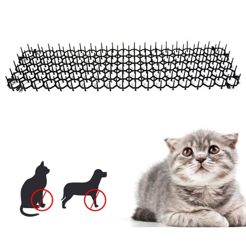1Pc 13cmx49cm Garden Prickle Strip Dig Stop Cat Repellent Deterrent Mat Spike Portable Anti-Cat Dog Outdoor Garden Supplies