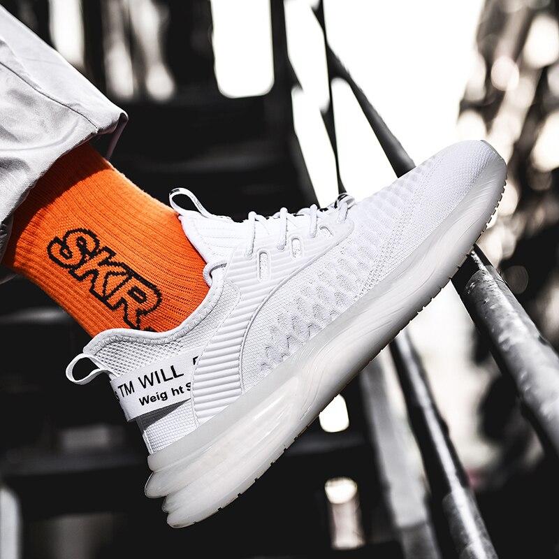 زلة منصة النسيج الأبيض شبكة الخريف hombre صحيح حجم رجل الرياضة منخفضة 46 2018 حذاء رياضة تنفس فستان موضة قماشية هوب