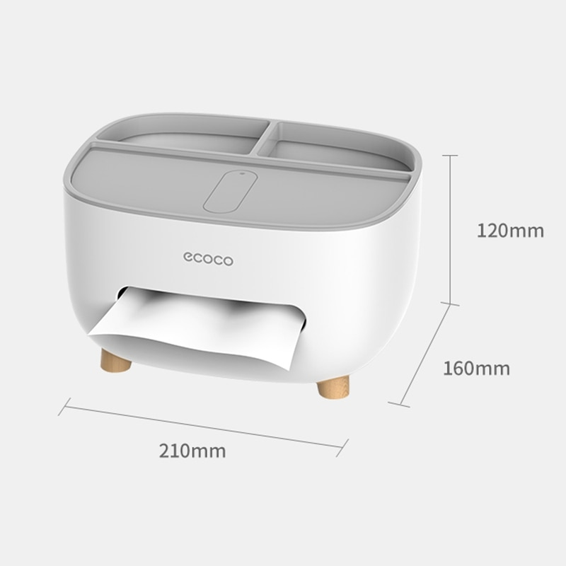 3 in1 Napkin Holder Tissue Boxes Kitchen Storage Box Livinng Room Creative Case Remote Control Multifunctional Desk Organizer  - buy with discount