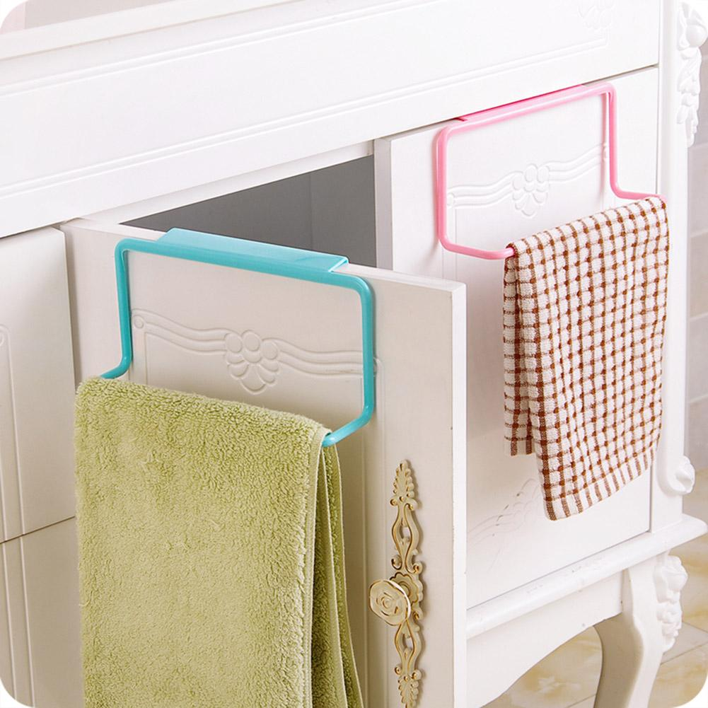 De plástico de toalla estante colgante titular esponja titular de armario de gabinete de cocina cuarto de baño estante de toalla cocina baño percha