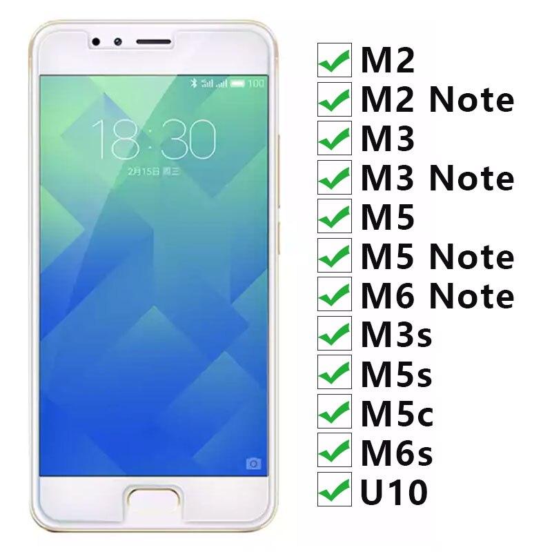 Vidrio templado para Meizu M6 s M5 c M3s U10 M5 M3...