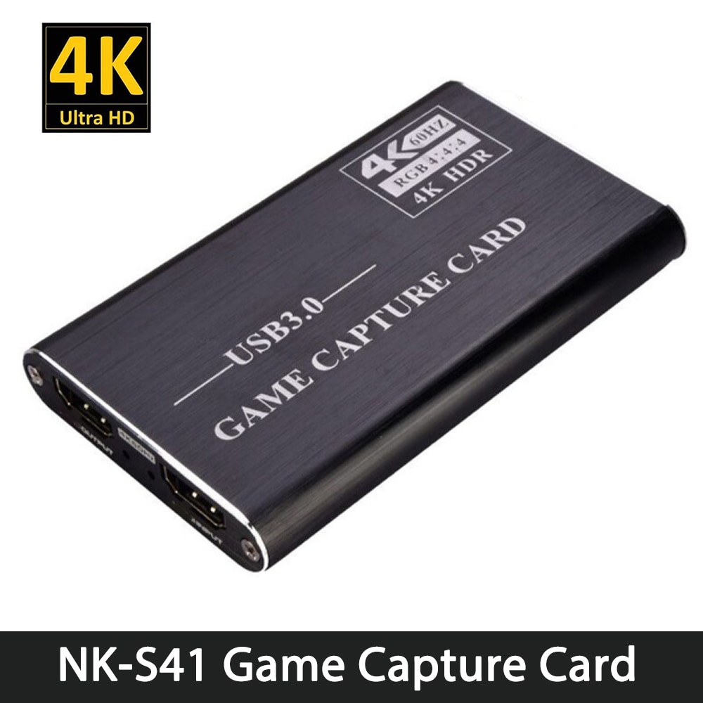 NK-S41 لعبة بطاقة التقاط الصوت والفيديو USB3.0 التقاط HDMI-متوافق 4Kp60 متوافق مع PS4/التبديل/كاميرا/تسجيل/بث مباشر