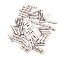 50 pièces 14-16 AWG jauge Non isolé/Non isolé bout à bout connecteurs à sertir Terminal