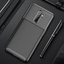 Voor Realme X2 Pro Case Luxe Carbon Fiber Cover Volledige Bescherming Telefoon Geval Voor Oppo Realme X 2 Pro Cover flex Bumper Fit shell