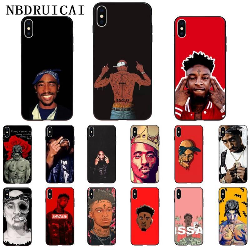 NBDRUICAI Tupac Amaru Shakur 2Pac RAP 21 Savage High Quality Phone Case for iPhone 11 pro XS MAX 8 7 6 6S Plus X 5 5S SE XR case