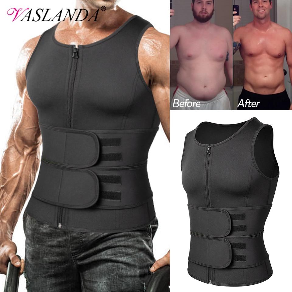 Men Body Shaper Waist Trainer Sauna Suit Sweat Vest Slimming Underwear Weight Loss Shirt Fat Burner Workout Tank Tops Shapewear