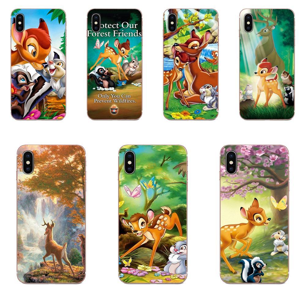 American Animation Bambi Deer For Samsung Galaxy A10 A20 A20E A3 A40 A5 A50 A7 J1 J3 J4 J5 J6 J7 2016 2017 2018