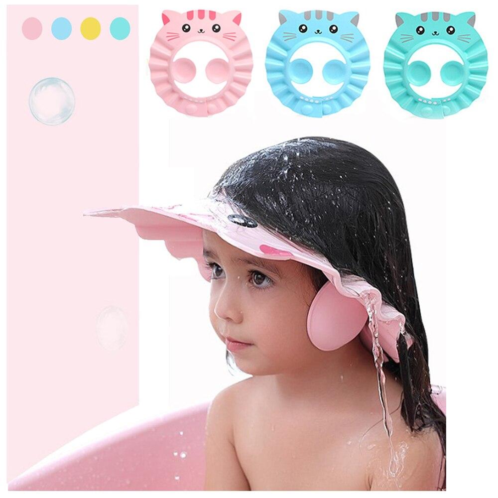 Gorro para baño seguro para bebé, gorro de protección suave para bebé recién nacido, Protector de oreja para el pelo
