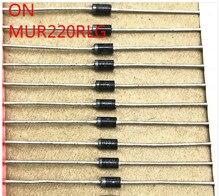 30 pièces dorigine sur MUR220RLG DO-15 Diode de récupération Ultra rapide 2A 200V 25ns PK MUR220 do15